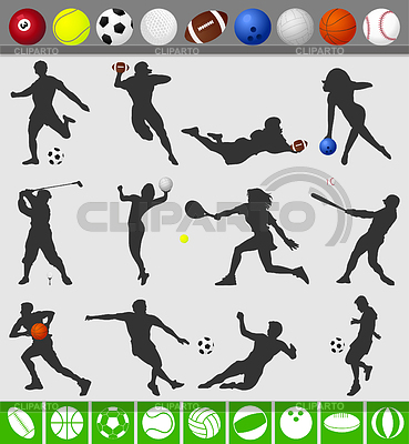 Sports with ball | Stock Vector Graphics |ID 3262081