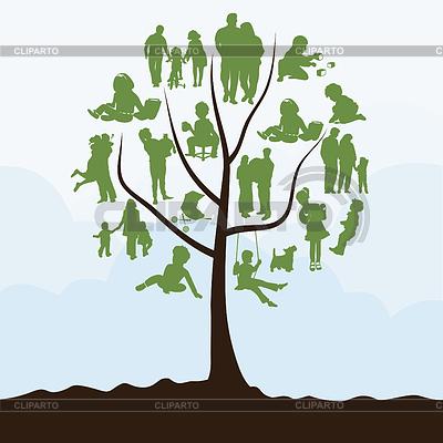 Árbol genealógico | Ilustración vectorial de stock |ID 3262479