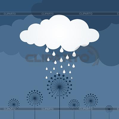 Deszcz na kwiat | Klipart wektorowy |ID 3278785