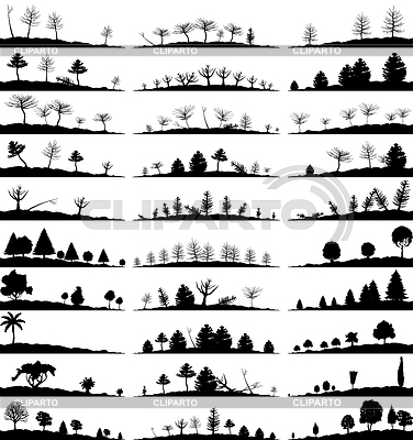 Set of landscape silhouettes | Stock Vector Graphics |ID 3278797