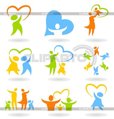Icons - family | Stock Vector Graphics |ID 3290223
