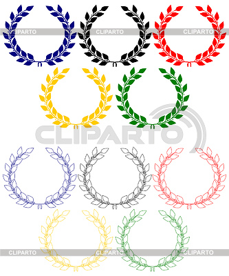 Laurel wreaths as Olympic rings | Stock Vector Graphics |ID 3304321