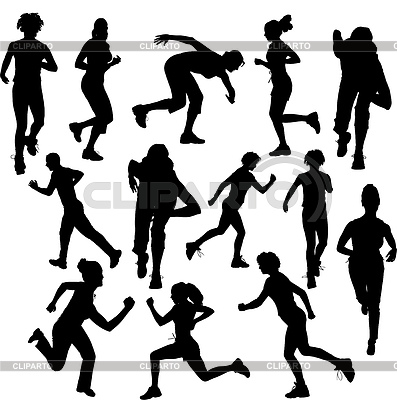 Running people. Runners | Stock Vector Graphics |ID 3273187