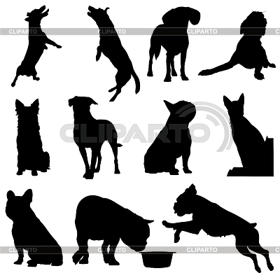 Set of dogs silhouette. | Stock Vector Graphics |ID 3273389