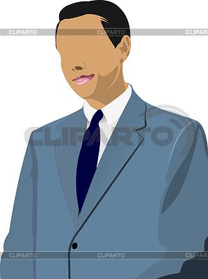 Geschäftsmann steht und spricht   Stock Vektorgrafik  ID 3280225