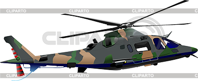 Air force. Combat helicopter | Stock Vector Graphics |ID 3288330