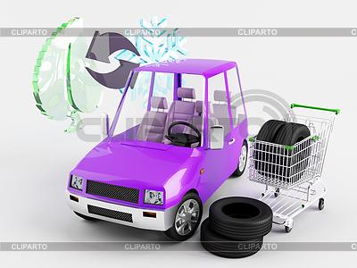 Saisonale Reifen chage | Illustration mit hoher Auflösung |ID 3283217