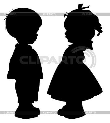 Sylwetki dzieci | Klipart wektorowy |ID 3278416