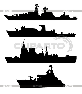 War ships silhouettes | Stock Vector Graphics |ID 3279668