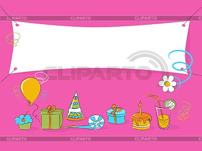 Doodle zum Geburtstag | Stock Vektorgrafik |ID 3277024