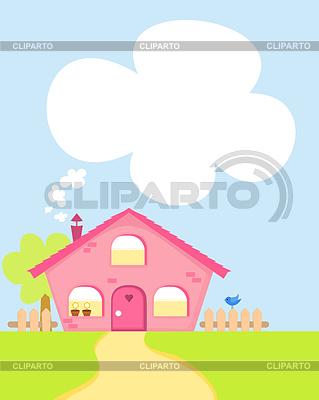 Cute cartoon house | Stock Vector Graphics |ID 3277450