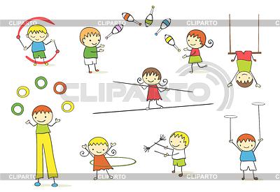 Dzieci Juggling | Klipart wektorowy |ID 3277461