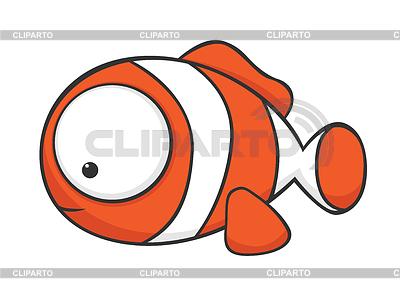 Big-eyed clownfish | Stock Vector Graphics |ID 3279273