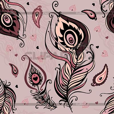 Nahtloses Muster von Pfauenfedern | Stock Vektorgrafik |ID 3280460