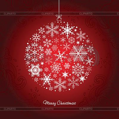 Christmas ball of Snowflakes   Stock Vector Graphics  ID 3381479