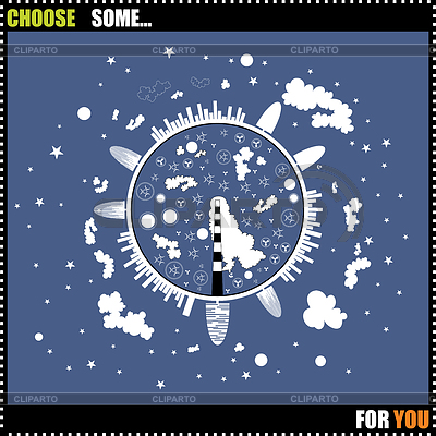Night eco globe | Stock Vector Graphics |ID 3285196