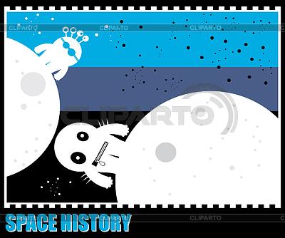 Lustiger Monster im Weltraum | Stock Vektorgrafik |ID 3285345