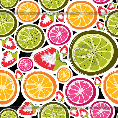 Fruit seamless background | Stock Vector Graphics |ID 3285753