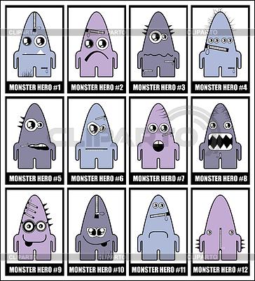 Zwölf bunte Monster | Stock Vektorgrafik |ID 3285863