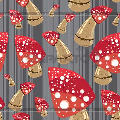 Mushroom seamless background   Stock Vector Graphics  ID 3285896