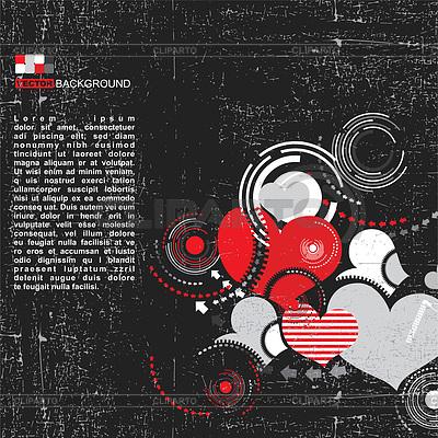 Retro grunge creative hearts | Stock Vector Graphics |ID 3308995