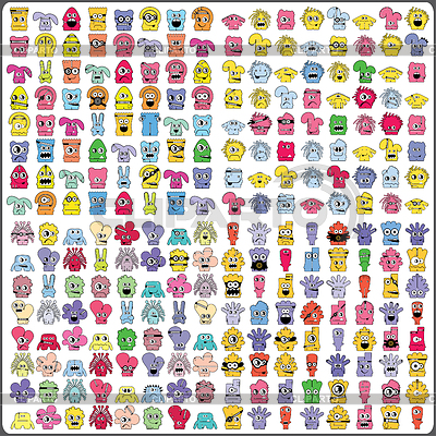 Big set of colorful monsters | Stock Vector Graphics |ID 3309003