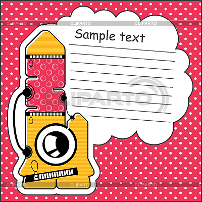 Cartoon monster with message cloud | Stock Vector Graphics |ID 3312528