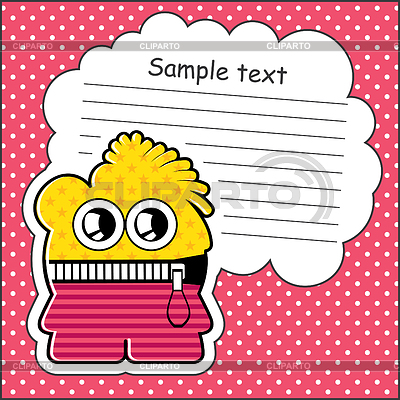 Cartoon monster with message cloud | Stock Vector Graphics |ID 3312536