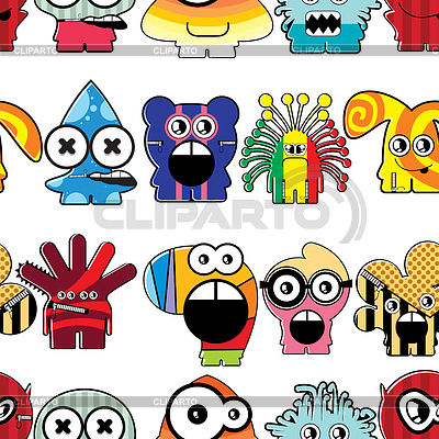 Monsters seamless background | Stock Vector Graphics |ID 3332018