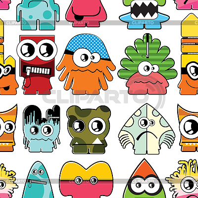 Monsters seamless background | Stock Vector Graphics |ID 3333289