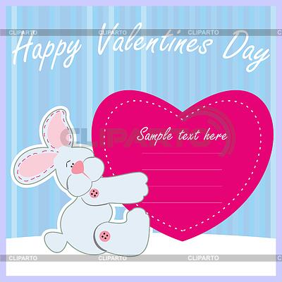 Nice postcard with bunny    Stock Vector Graphics  ID 3287249