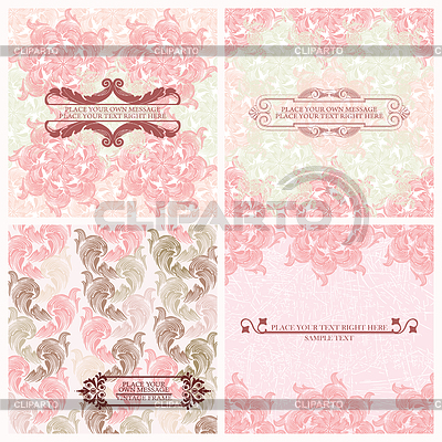 Set of wedding invitations card  | Stock Vector Graphics |ID 3287418