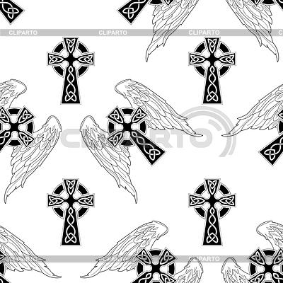 无缝背景的十字架 | 向量插图 |ID 3287647