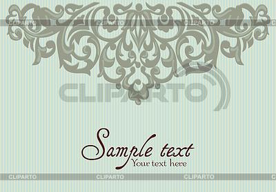 Tło z Vintage Label | Klipart wektorowy |ID 3287817