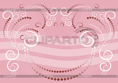 Różowe tło z zdobniczego | Klipart wektorowy |ID 3304290