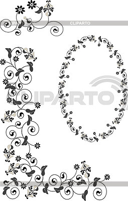 Decorative frame and corner.Graphic. | Stock Vector Graphics |ID 3304458