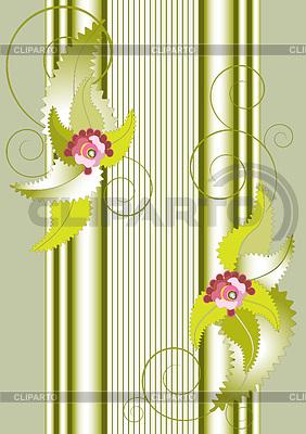 Baner z kwiatów i kolumny | Klipart wektorowy |ID 3304569
