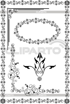 Decorative frame and ornaments | Stock Vector Graphics |ID 3304916