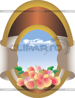 Frame with fruit in the sky | Stock Vector Graphics |ID 3305951