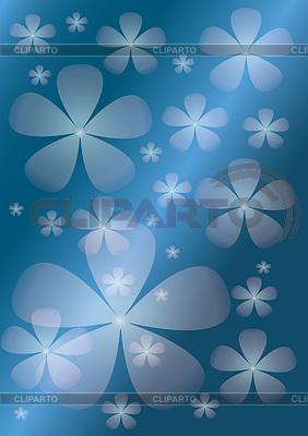 Abstrakter blauem Hintergrund mit transparenter Blume | Stock Vektorgrafik |ID 3328823