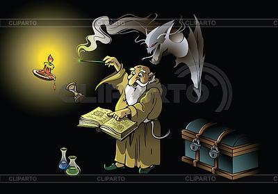 Wizard summons demon | Stock Vector Graphics |ID 3298105