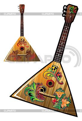 Russisches nationales Musik-Instrument - Balalaika | Stock Vektorgrafik |ID 3298107