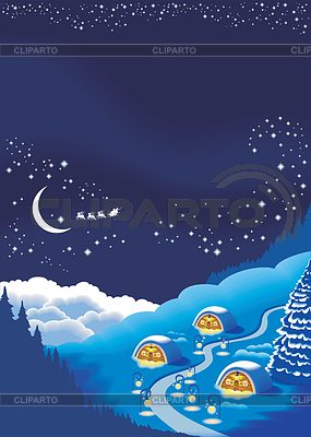 Christmas background for holiday greeting card | Stock Vector Graphics |ID 3304722