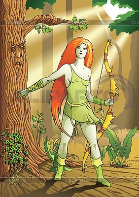 Elf weibliche Bogenschützen | Stock Vektorgrafik |ID 3304796