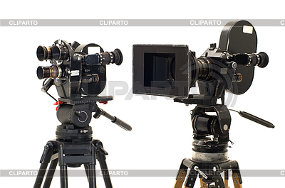Two professional 35mm film-cameras | High resolution stock photo |ID 3301734