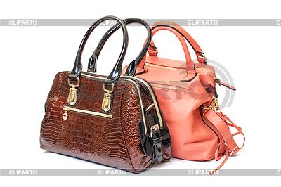 Zwei Damen Handtasche aus Leder   Foto mit hoher Auflösung  ID 3298729