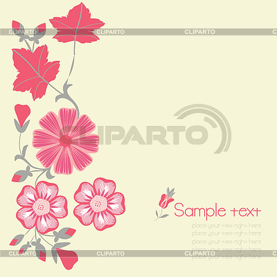 Floral background   Stock Vector Graphics  ID 3302088