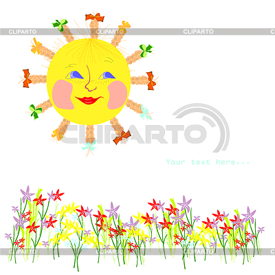Sun and flowers | Stock Vector Graphics |ID 3302957