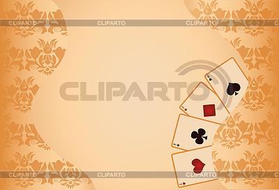赌博扑克无缝图案背景 | 向量插图 |ID 3304518