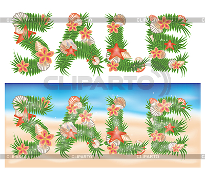 Summer tropical sale banners | High resolution stock illustration |ID 3304633